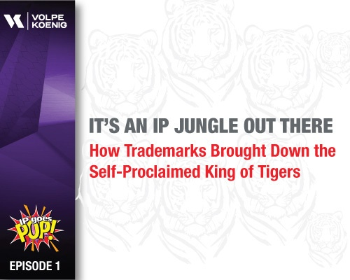 Ep #1:   It's an IP Jungle Out There - How Trademarks Brought Down the Self-Proclaimed King of Tigers